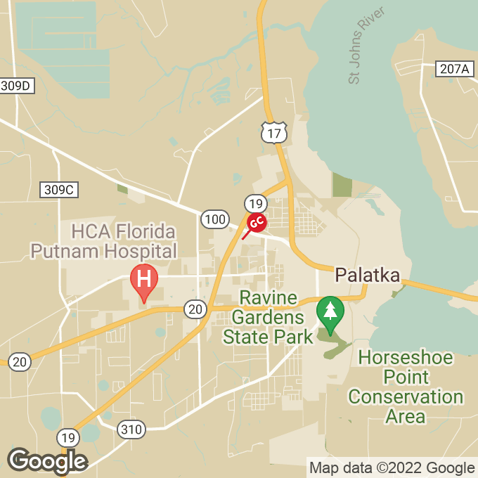 Golden Corral Highway 19 North, Palatka, FL location map