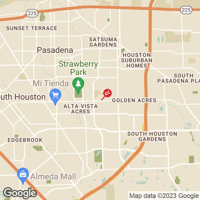 Golden Corral Spencer Highway, Pasadena, TX location map