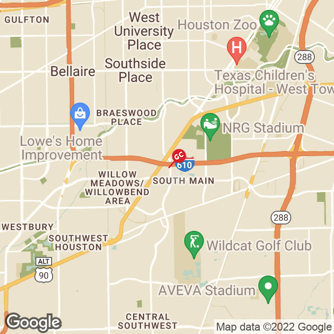 Golden Corral S Loop W, Houston, TX location map