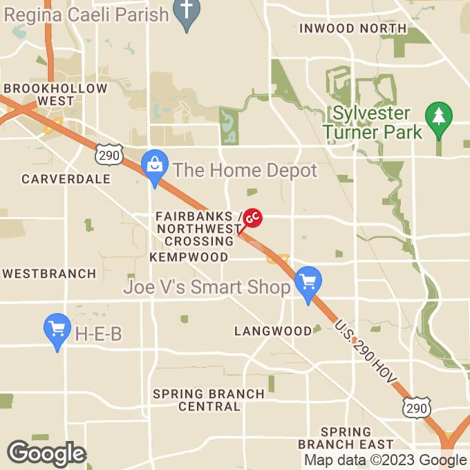 Golden Corral Northwest Freeway, Houston, TX location map