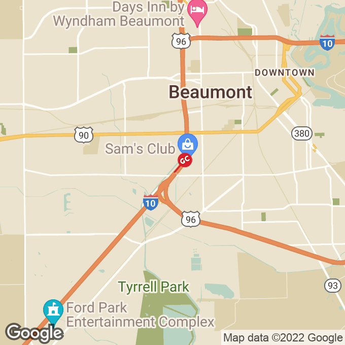 Golden Corral Ih 10 South, Beaumont, TX location map