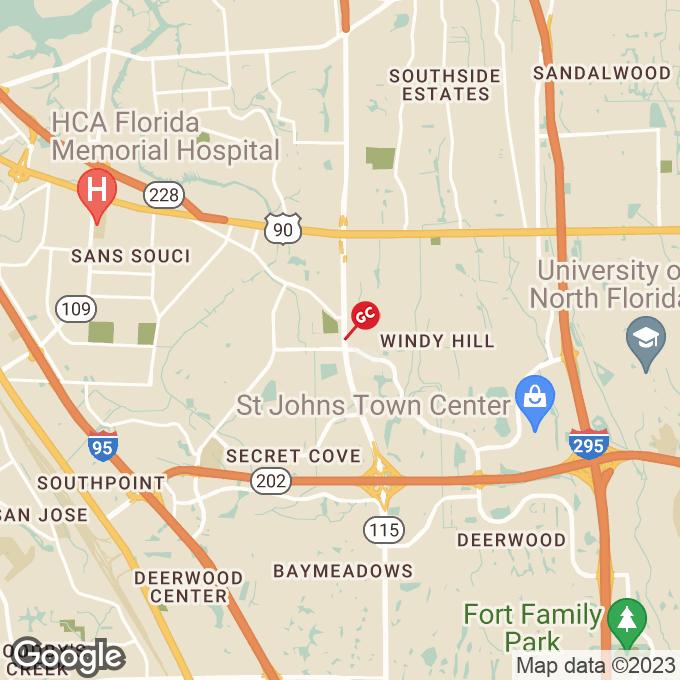 Golden Corral Southside Blvd., Jacksonville, FL location map