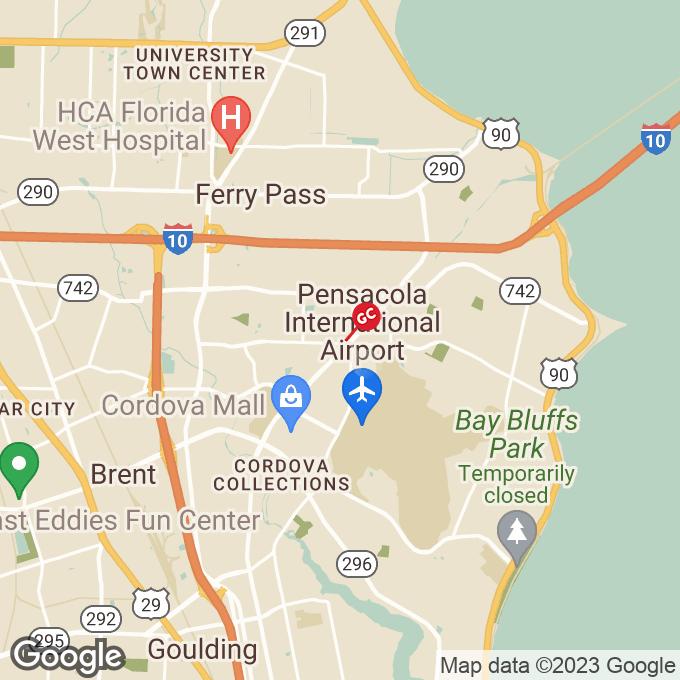 Golden Corral Langley Avenue, Pensacola, FL location map