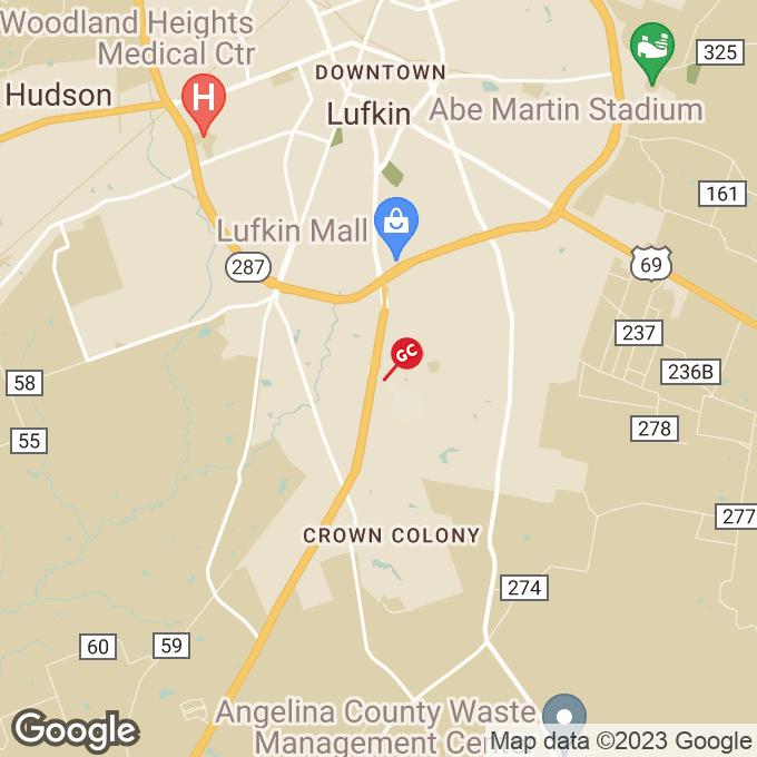 Golden Corral South First Street, Lufkin, TX location map