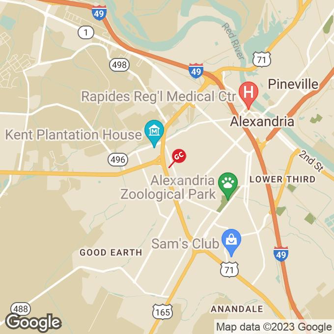 Golden Corral Macarthur Dr, Alexandria, LA location map