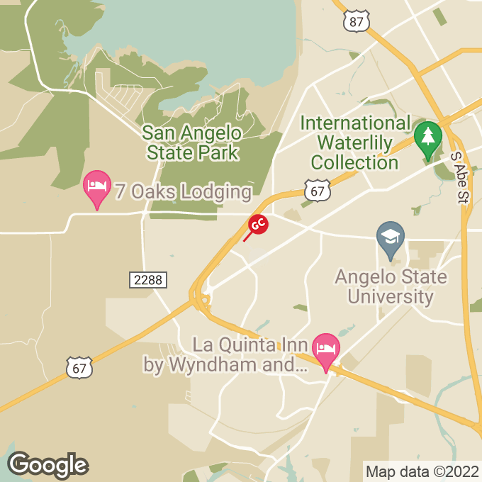 Golden Corral W Houston Harte Expwy, San angelo, TX location map