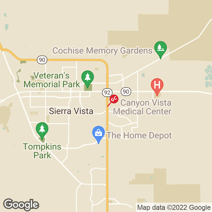 Golden Corral South Highway 92, Sierra vista, AZ location map