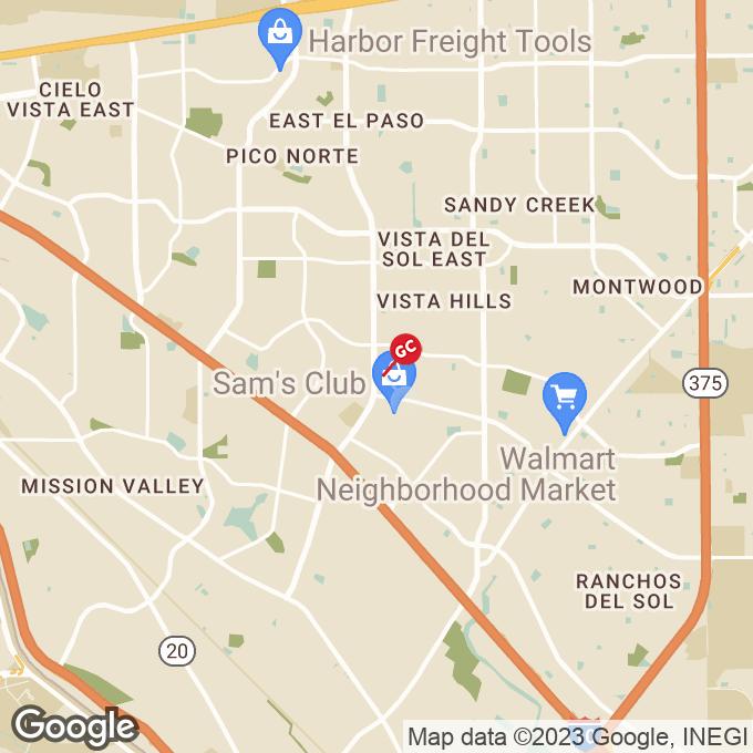 Golden Corral N Lee Trevino Dr, El paso, TX location map
