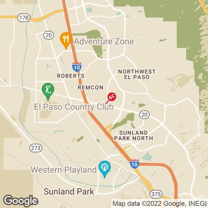 Golden Corral Mesa Street, El paso, TX location map