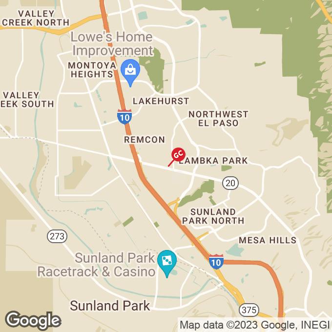 Golden Corral Mesa Street, El paso, TX location map
