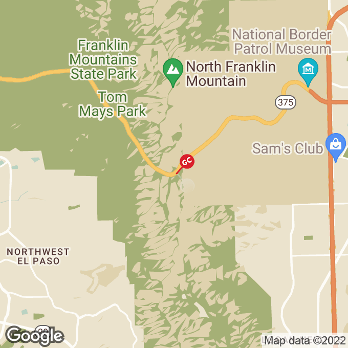 Golden Corral Transmountain Road, El paso, TX location map