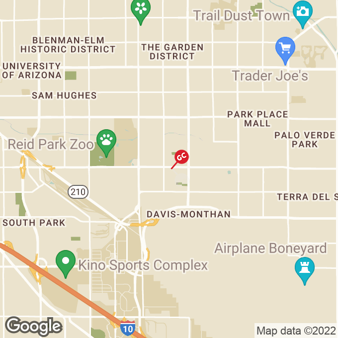 Golden Corral East 22nd Street, Tucson, AZ location map