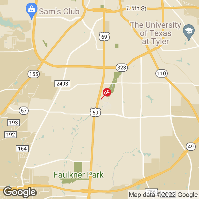Golden Corral S. Broadway Ave., Tyler, TX location map