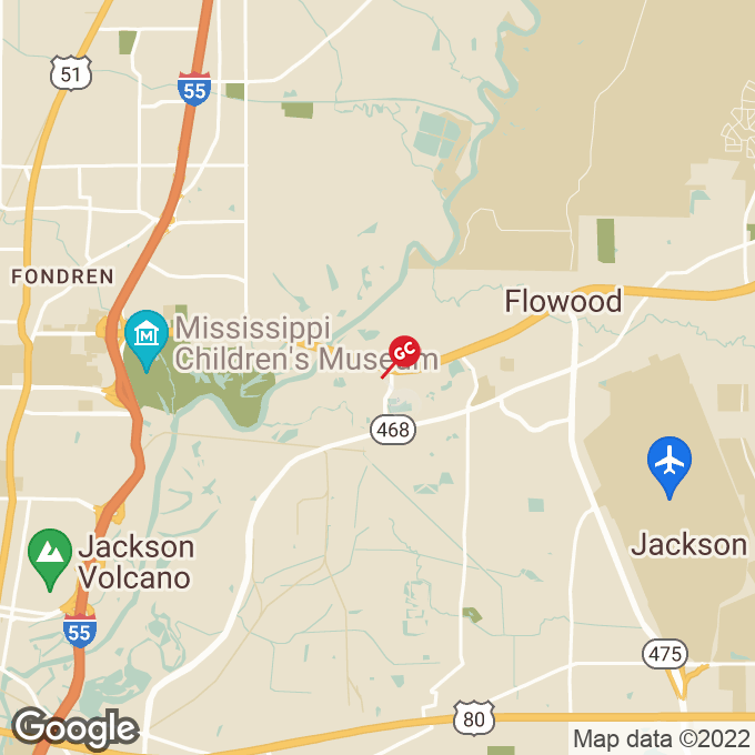 Golden Corral Top Street, Flowood, MS location map