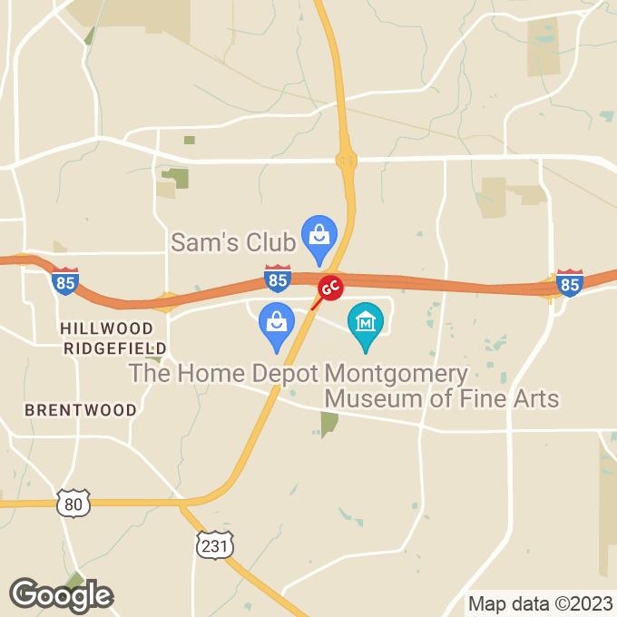 Golden Corral Eastern Blvd, Montgomery, AL location map