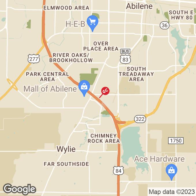 Golden Corral South Danville Drive, Abilene, TX location map