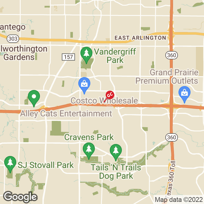 Golden Corral East Interstate 20, Arlington, TX location map