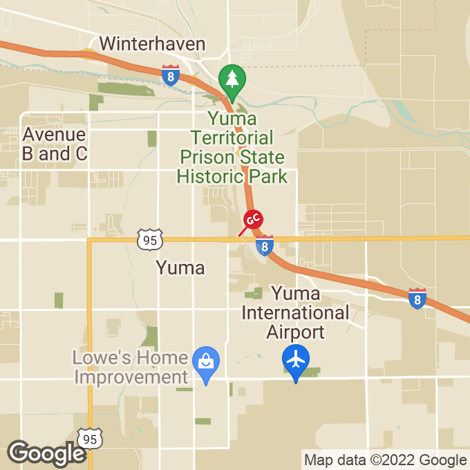 Golden Corral East 16th Street, Yuma, AZ location map