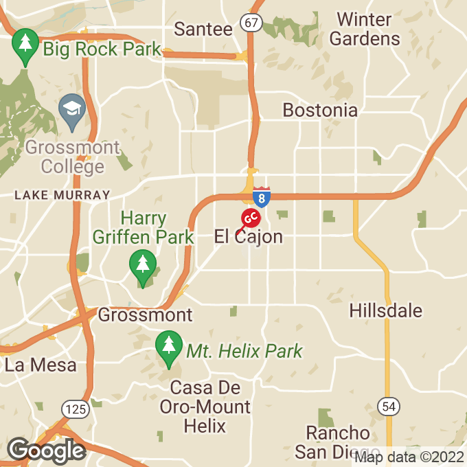 Golden Corral W Main Street, El cajon, CA location map