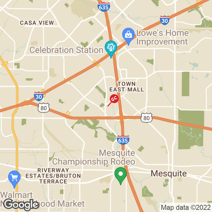 Golden Corral Towne Centre Drive, Mesquite, TX location map