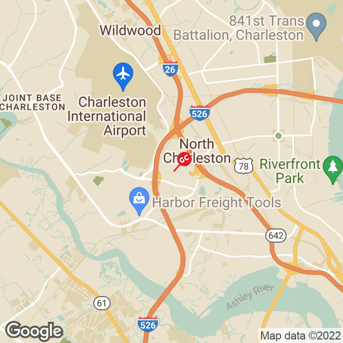 Golden Corral Centre Pointe Drive, Charleston, SC location map