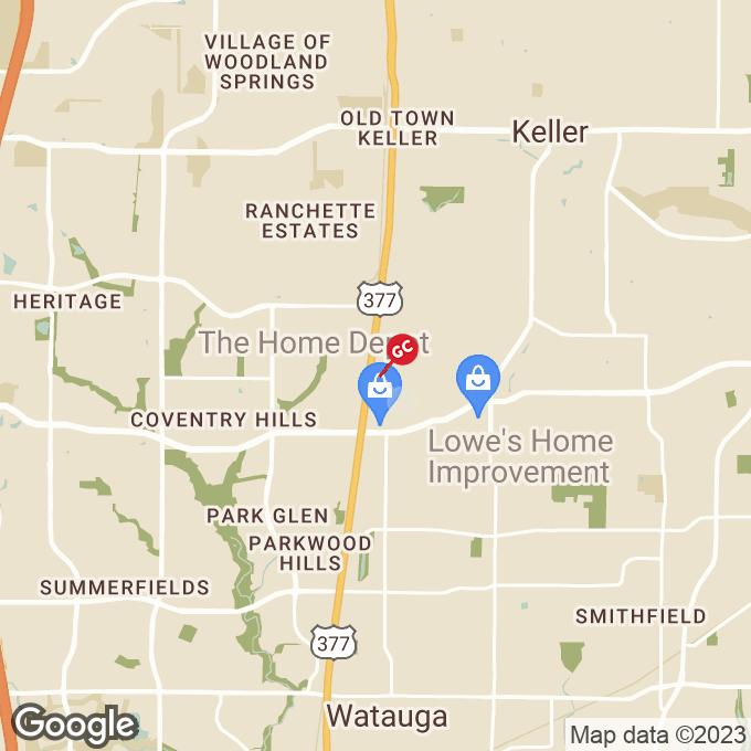 Golden Corral South Main Street, Keller, TX location map