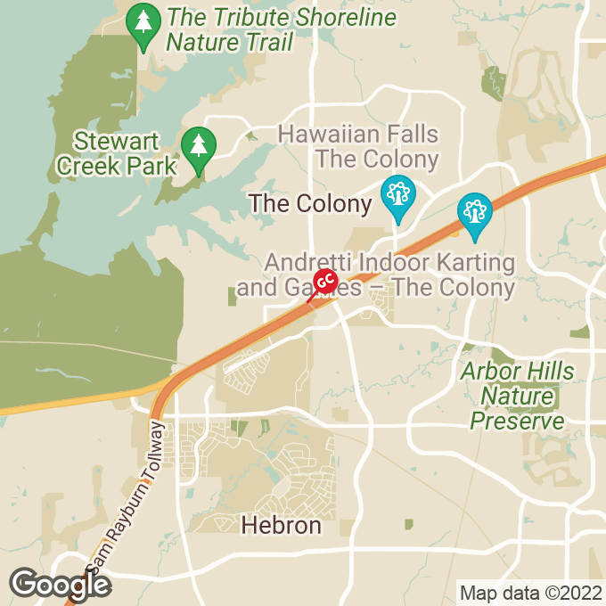 Golden Corral Highway 121, The colony, TX location map