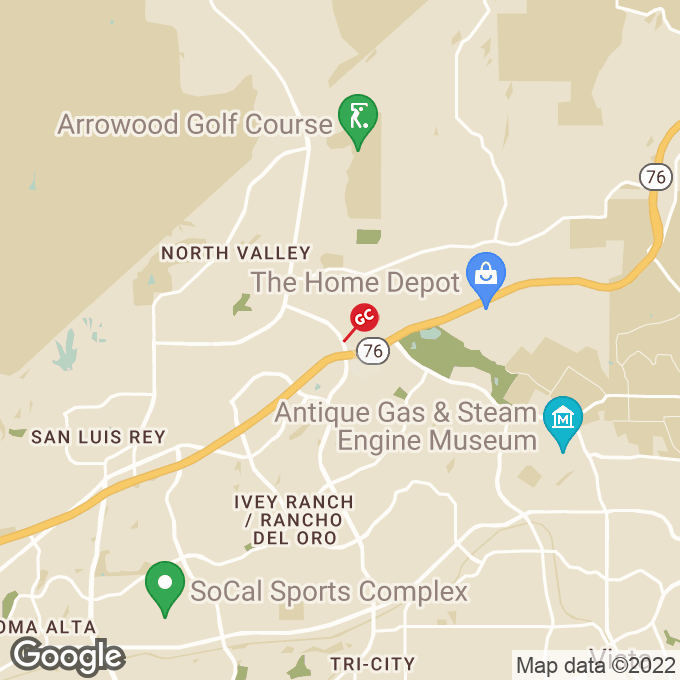Golden Corral College Blvd, Oceanside, CA location map