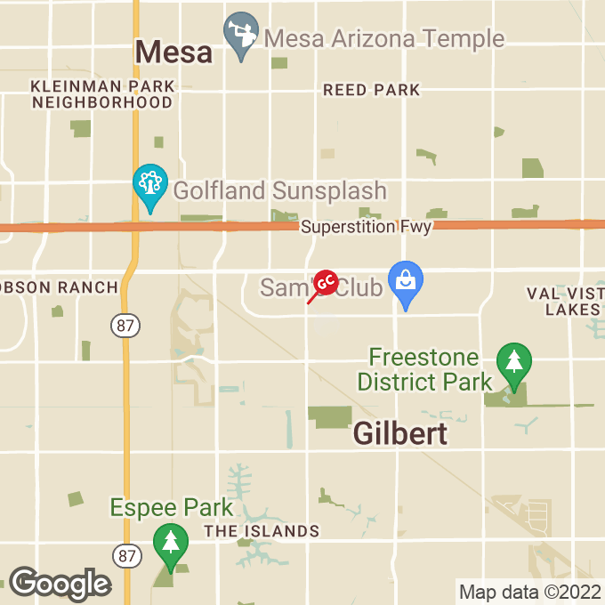 Golden Corral North Cooper Road, Gilbert, AZ location map
