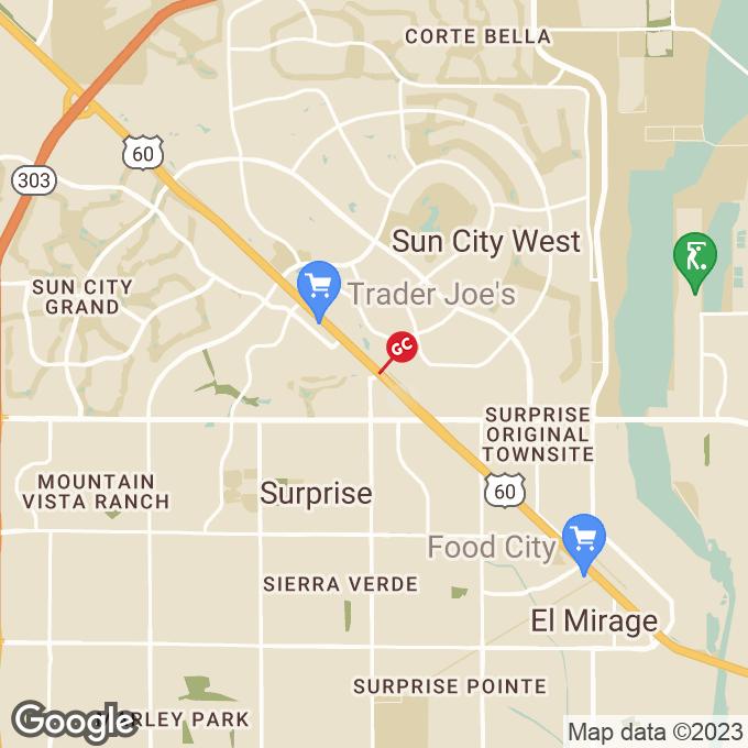 Golden Corral N Litchfield Drive, Surprise, AZ location map