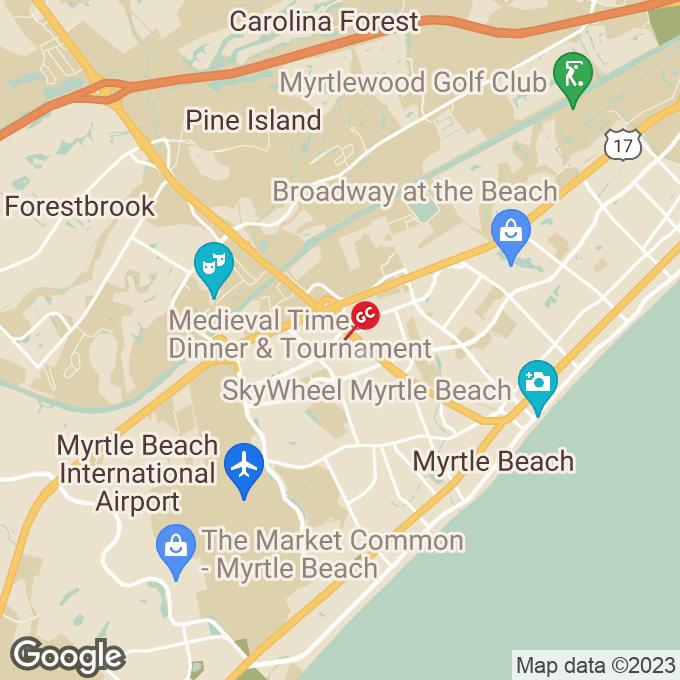 Golden Corral Oak Forest Lane, Myrtle beach, SC location map