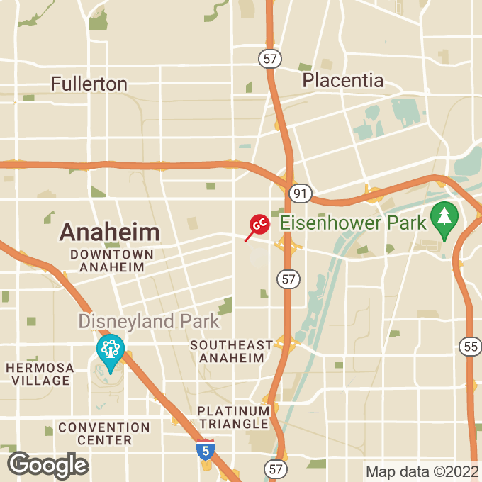 Golden Corral E Lincoln Ave, Anaheim, CA location map