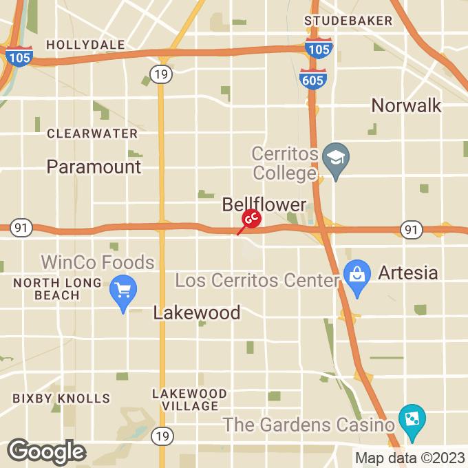 Golden Corral Bellflower Blvd, Bellflower, CA location map