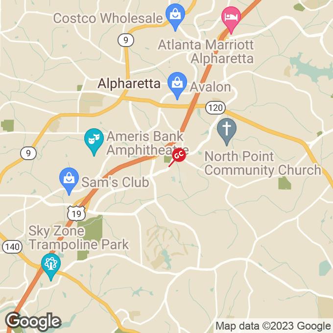 Golden Corral North Point Drive, Alpharetta, GA location map