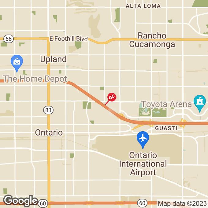 Golden Corral E 4th Street, Ontario, CA location map
