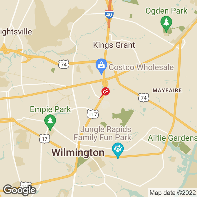 Golden Corral New Centre Dr., Wilmington, NC location map