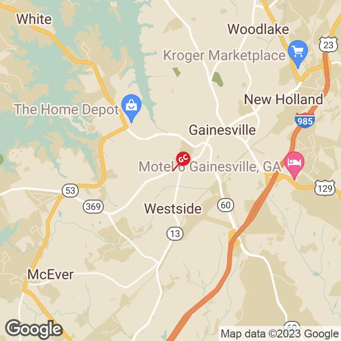 Golden Corral Browns Bridge Road, Gainesville, GA location map