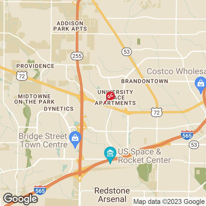 Golden Corral University Dr, Huntsville, AL location map