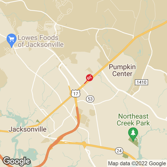 Golden Corral North Marine Blvd, Jacksonville, NC location map