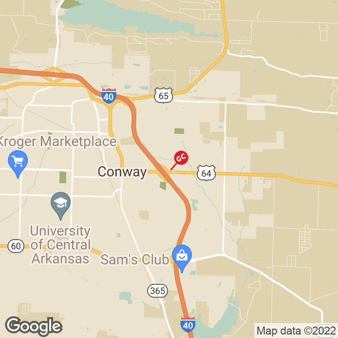 Golden Corral E Oak Street, Conway, AR location map