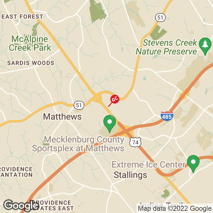 Golden Corral E. Independence Blvd., Matthews, NC location map
