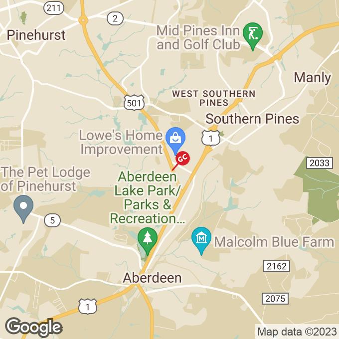 Golden Corral Turner Street, Aberdeen, NC location map