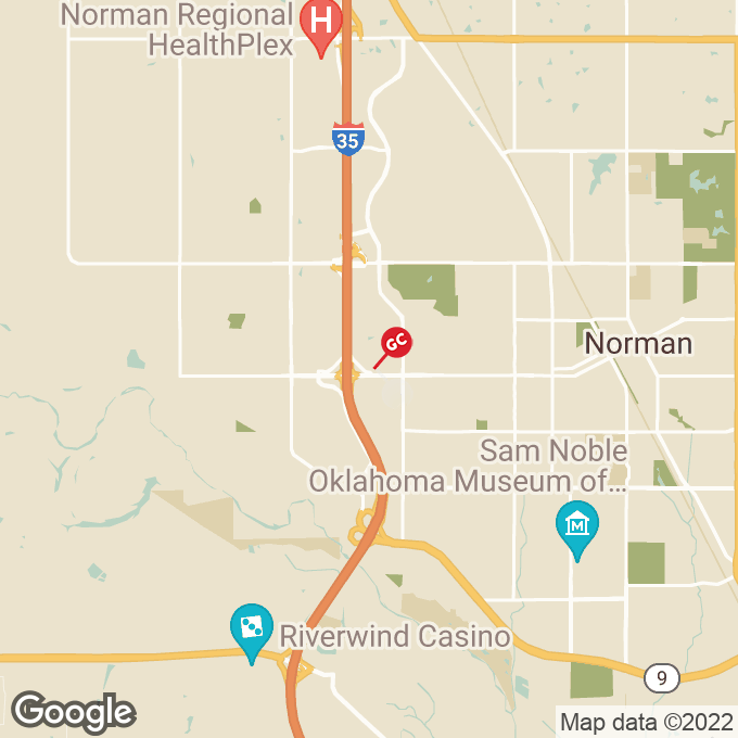 Golden Corral N Interstate Drive, Norman, OK location map