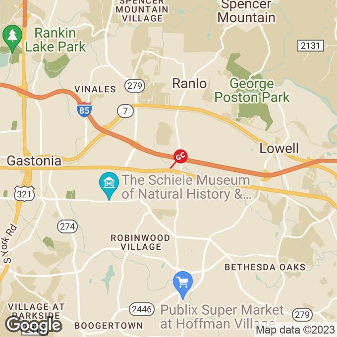 Golden Corral E. Franklin Blvd., Gastonia, NC location map