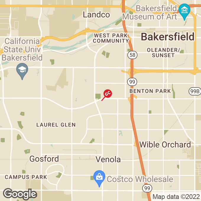 Golden Corral Ming Ave., Bakersfield, CA location map