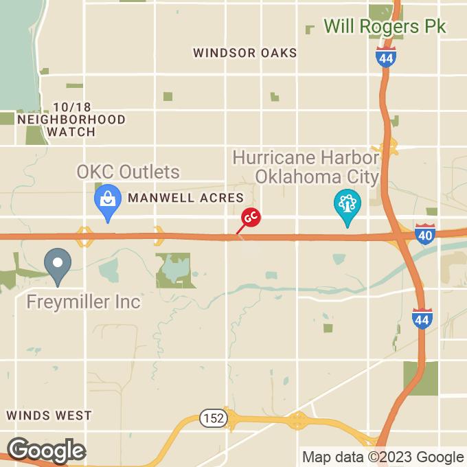 Golden Corral S. Macarthur Blvd., Oklahoma city, OK location map