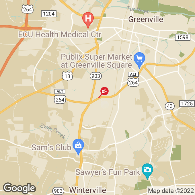 Golden Corral Sw Greenville Blvd, Greenville, NC location map