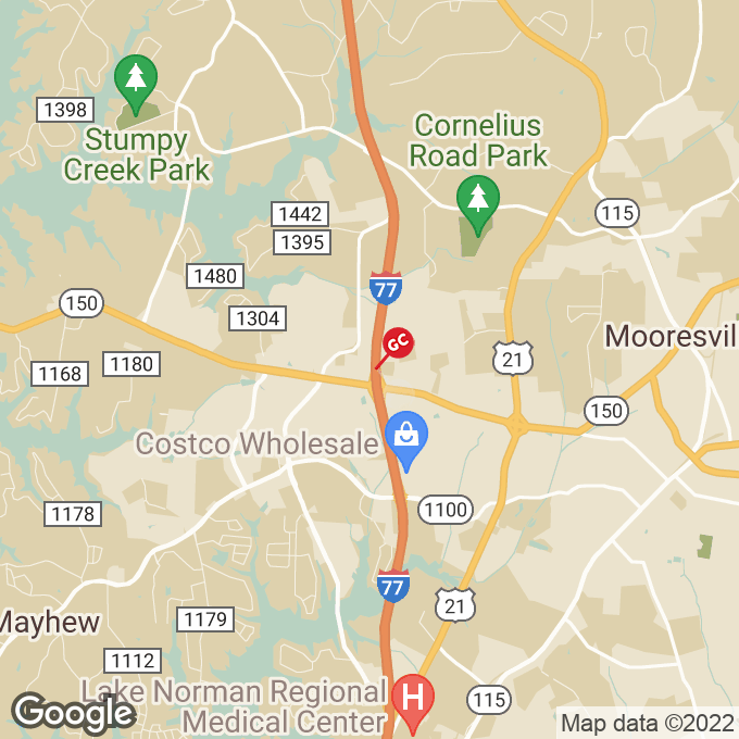 Golden Corral Gallery Center Drive, Mooresville, NC location map