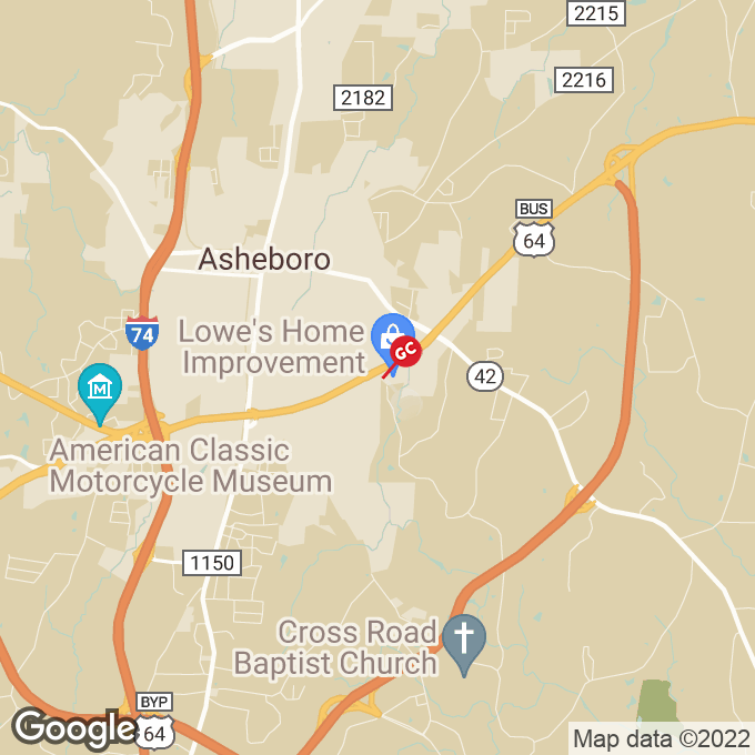 Golden Corral East Dixie Drive, Asheboro, NC location map