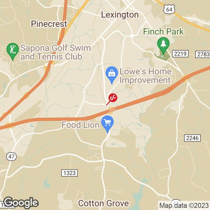 Golden Corral Cotton Grove Road, Lexington, NC location map